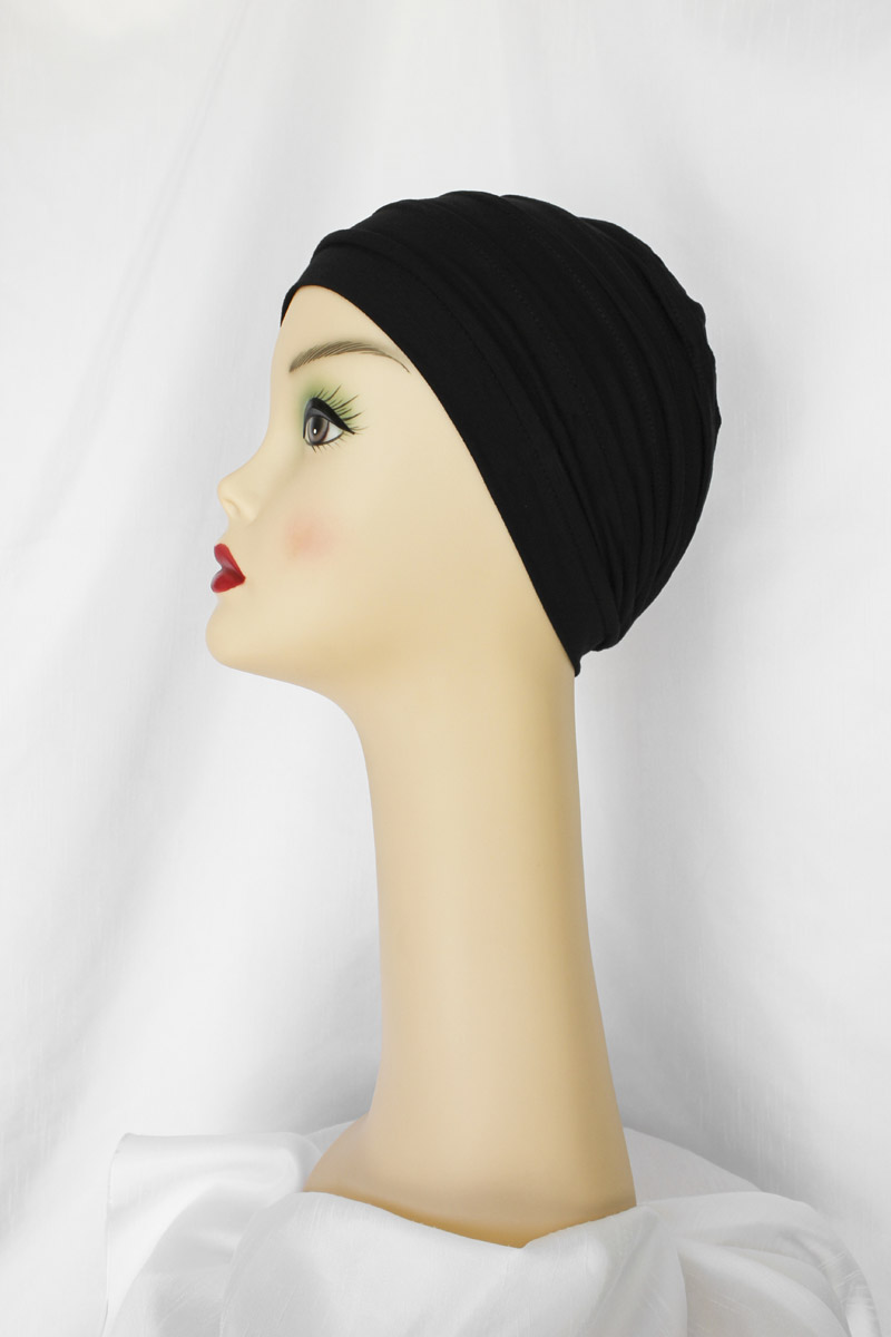 Featherlite Turban in Onyx
